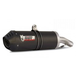 PAIR OF EXHAUST SYSTEMS MIVV OVAL CARBON WITH BOTTOM IN CARBON FOR APRILIA PEGASO 650 STRADA, APPROVED
