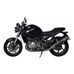 PAIR OF EXHAUST SYSTEMS MIVV OVAL CARBON FOR CAGIVA RAPTOR 650 2000/2007, APPROVED