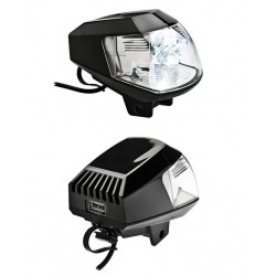 PAIR OF FAR 12V LED AUXILIARY HEADLIGHTS WITH USB SOCKET, APPROVED