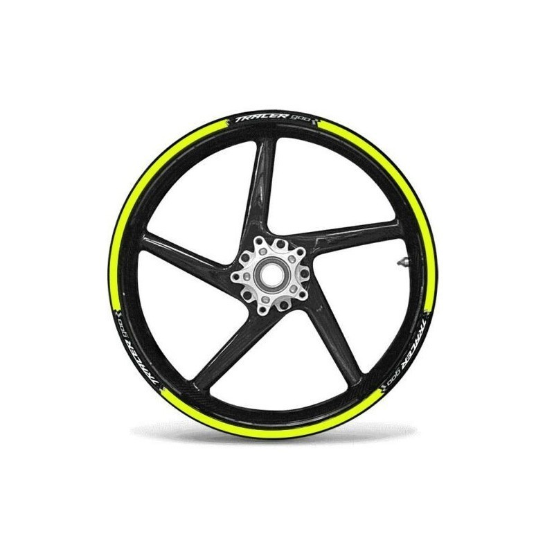 """KIT STICKER EDGES FOR WHEEL RIMS YAMAHA TRACER 900 WITH RIMS 17""""COLOR YELLOW FLUO"""