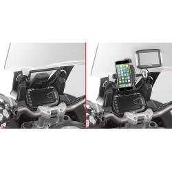 GIVI ALUMINUM CROSSBAR FOR SMARTPHONE FIXING FOR DUCATI MULTISTRADA 950 2017/2020