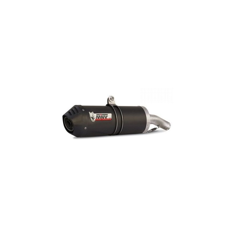 MIVV OVAL EXHAUST TERMINAL IN CARBON WITH CARBON BASE FOR HONDA HORNET 600 2003/2006, APPROVED