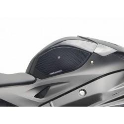 COPPIA ADESIVI ONE DESIGN GRIP SERBATOIO PER BMW S 1000 R 2014/2020, NERO