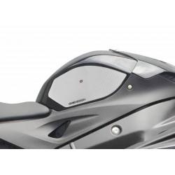 COPPIA ADESIVI ONE DESIGN GRIP SERBATOIO PER BMW S 1000 R 2014/2020, TRASPARENTE