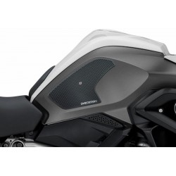 PAIR STICKERS ONE DESIGN GRIP TANK FOR BMW R 1200 GS 2013/2018, BLACK