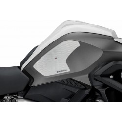 PAIR OF STICKERS ONE DESIGN GRIP TANK FOR BMW R 1200 GS 2013/2018, TRANSPARENT