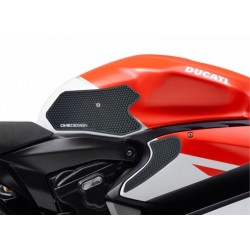 PAIR STICKERS ONE DESIGN GRIP TANK FOR DUCATS 1199 PANIGALE 2012/2014, BLACK