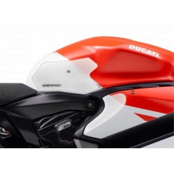 PAIR STICKERS ONE DESIGN GRIP TANK FOR DUCATS 1199 PANIGALE 2012/2014, TRANSPARENT