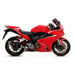 ARROW RACE-TECH ALUMINUM DARK EXHAUST SYSTEM FOR HONDA VFR 800 F 2017/2020*, APPROVED