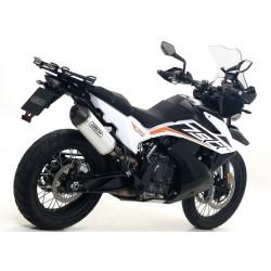 TERMINALE DI SCARICO ARROW RACE-TECH IN ALLUMINIO CON FONDELLO CARBONIO PER KTM 790 ADVENTURE 2019/2020, OMOLOGATO