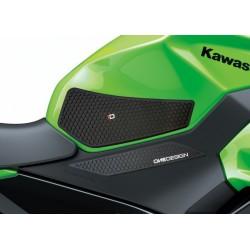 PAIR STICKERS ONE DESIGN GRIP TANK FOR KAWASAKI NINJA 400 2018/2020, BLACK