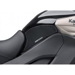 PAIR STICKERS ONE DESIGN GRIP TANK FOR KAWASAKI VERSYS 1000 2015/2020, BLACK