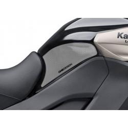 PAIR STICKERS ONE DESIGN GRIP TANK FOR KAWASAKI VERSYS 1000 2015/2020, TRANSPARENT