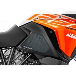 PAIR OF STICKERS ONE DESIGN GRIP TANK FOR KTM 1090 ADVENTURE R 2017/2019, BLACK