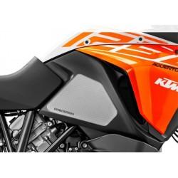 PAIR OF STICKERS ONE DESIGN GRIP TANK FOR KTM 1090 ADVENTURE R 2017/2019, TRANSPARENT
