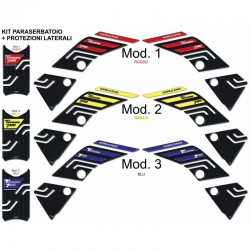 3D STICKERS KIT TANK + SIDE PROTECTIONS FOR YAMAHA TENERE 700 2019