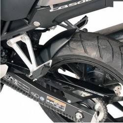 BARRACUDA REAR FENDER IN BLACK ABS WITH CHAIN GUARD FOR HONDA CB 500 X 2019/2020