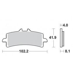 FRONT PADS SET DUAL CARBON SBS 901 DC FOR TRIUMPH DAYTONA 675 R 2011/2012