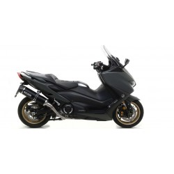 COMPLETE CATALYTIC EXHAUST SYSTEM ARROW THUNDER ALUMINUM DARK CUP CARBON FOR YAMAHA T-MAX 560 2020, APPROVED