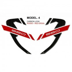 3D STICKERS CORNER PROTECTION FAIRINGS YAMAHA T-MAX 560 2020 COLOR CARBON RED ERGAL