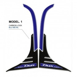 ADESIVI 3D PROTEZIONE PROFILO CARENA YAMAHA T-MAX 560 2020/2021 COLORE CARBONIO BLU METAL