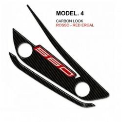 3D STICKER HEAT PROTECTION ORIGINAL EXHAUST YAMAHA T-MAX 560 2020 COLOR CARBON RED ERGAL