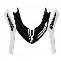 3D STICKER FRONT FENDER PROTECTION YAMAHA T-MAX 560 2020 SILVER CARBON COLOR