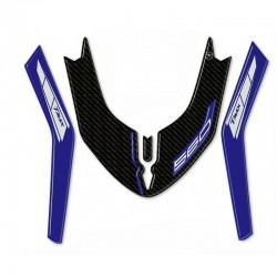 3D STICKER FRONT FENDER PROTECTION YAMAHA T-MAX 560 2020 COLOR CARBON BLUE METAL