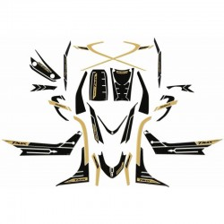 3D FAIRING STICKERS KIT FOR YAMAHA T-MAX 560 2020 CARBON GOLD COLOR