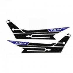 ADESIVI 3D BOOMERANG YAMAHA T-MAX 560 2020/2021 COLORE CARBONIO BLU METAL