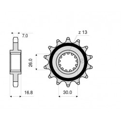 ORIGINAL STEEL PINION FOR CHAIN 525 FOR HONDA AFRICA TWIN 1100 L 2020