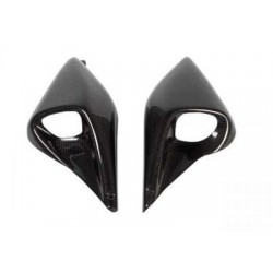 PAIR OF SHORT AIR VENTS IN CARBON FIBER FOR DUCATI MONSTER, HYPERMOTARD 1100/EVO 2007/2011, HYPERMOTARD 796 2010/2012