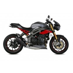 EXHAUST TERMINAL MIVV SOUND BLACK LOW PASSAGE FOR TRIUMPH SPEED TRIPLE S 2016/2020, APPROVED