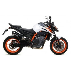 ARROW RACE-TECH EXHAUST SILENCER IN DARK ALUMINUM WITH CARBON BASE FOR KTM 890 DUKE R 2020, APPROVED