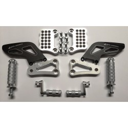 ADJUSTABLE REAR SETS 4-RACING FOR APRILIA TUONO 1000 R 2006/2010, TUONO 1000 R FACTORY 2007/2010