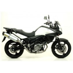 ARROW COMPLETE EXHAUST SYSTEM WITH ALUMINUM TERMINAL FOR SUZUKI V-STROM 650 2004/2016