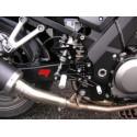 PEDANE ARRETRATE REGOLABILI 4-RACING PER SUZUKI SV 650 1999/2009, SV 650 S 1999/2009 (cambio standard e rovesciato)