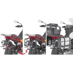 GIVI PL ONE-FIT MONOKEY SIDE CASE HOLDER WITH QUICK RELEASE FOR MOTO GUZZI V85 TT 2019/2020
