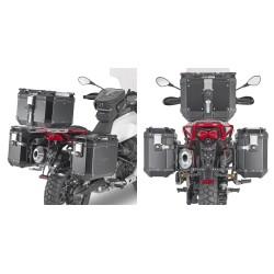 PORTAVALIGIE LATERALE GIVI PL ONE-FIT MONOKEY CAM-SIDE AD AGGANCIO RAPIDO PER MOTO GUZZI V85 TT 2019/2020