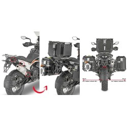 GIVI PL ONE-FIT MONOKEY CAM-SIDE QUICK-RELEASE SIDE CASE HOLDER FOR KTM 790 ADVENTURE R 2019/2020