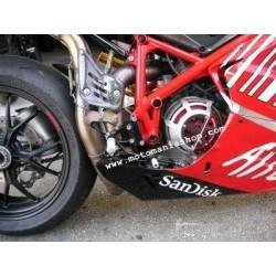 4-RACING ADJUSTABLE REAR SETS FOR DUCATI 1098, 1098 S, 1198/S, 848/EVO 2008/2013 (standard shifting)