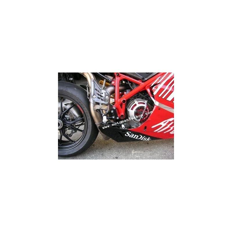 PEDANE ARRETRATE REGOLABILI 4 RACING PER DUCATI 1098, 1098 S, 1198/S, 848/EVO 2008/2013 (cambio normale)