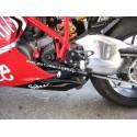 PEDANE ARRETRATE REGOLABILI 4-RACING PER DUCATI 1098, 1098 S, 1198/S, 848/EVO 2008/2013 (cambio normale)