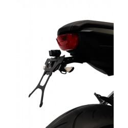 ADJUSTABLE ALUMINUM NUMBER PLATE HOLDER MODEL RACER FOR HONDA CB 650 R 2021