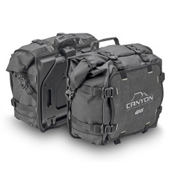 PAIR OF SIDE BAGS GIVI CANYON GRT720 CAPACITY 25 LITERS