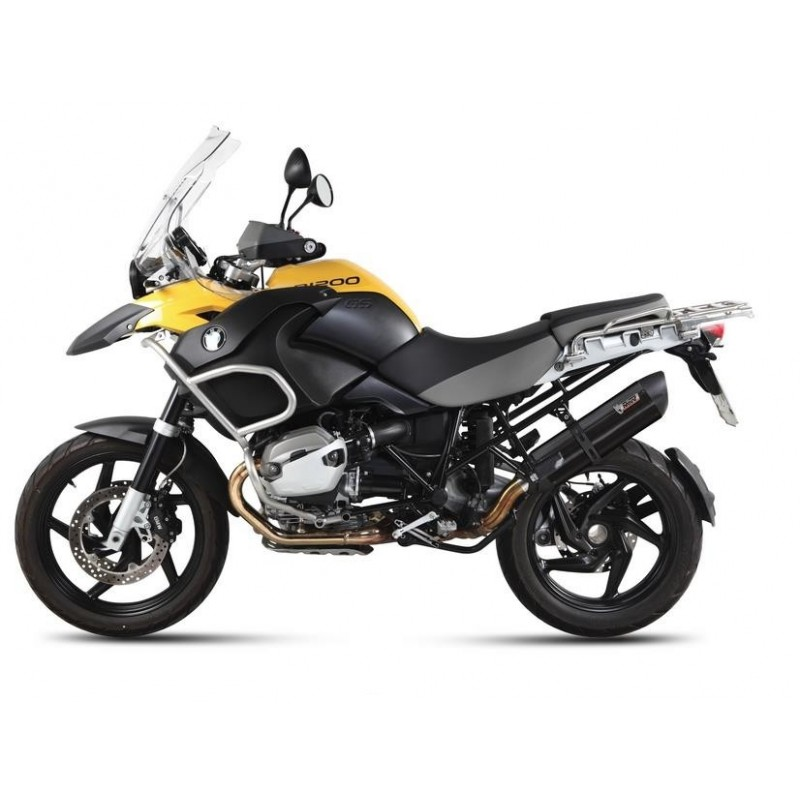 MIVV SUONO BLACK EXHAUST IN STAINLESS STEEL FOR BMW R 1200 GS ADVENTURE 2010/2012 *, APPROVED