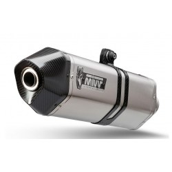 MIVV SPEED EDGE EXHAUST IN STAINLESS STEEL WITH CARBON BOTTOM FOR BMW R 1200 GS ADVENTURE 2010/2012 *, APPROVED
