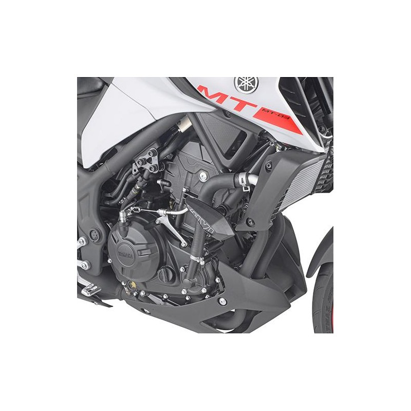 PAIR OF GIVI PADS FOR YAMAHA MT-03 2020 *, ALUMINUM COLOR