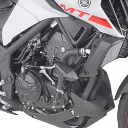 PAIR OF GIVI PADS FOR YAMAHA MT-03 2020 *, BLACK COLOR