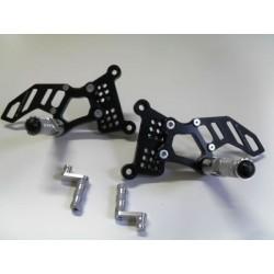 4-RACING ADJUSTABLE REAR SETS FOR MV AGUSTA BRUTALE 910, BRUTALE 910 R, F4 (standard shifting)